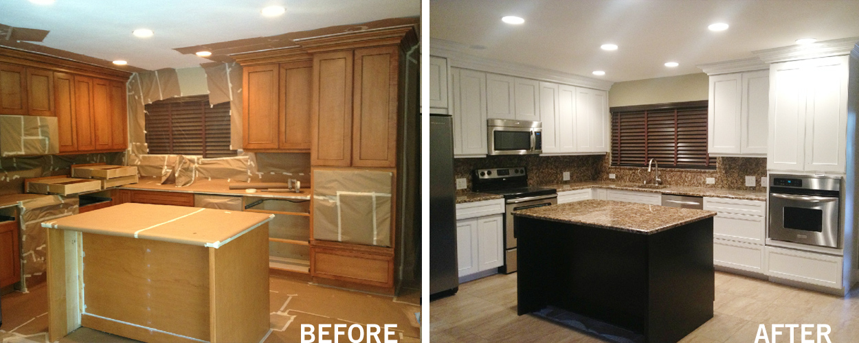 our work - kitchen & bathroom refinishing - san diego